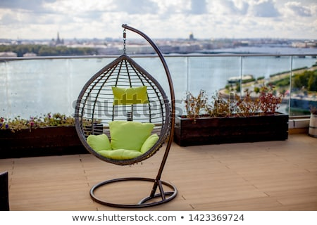 Swing chairs in playing garden Stock photo © ruzanna