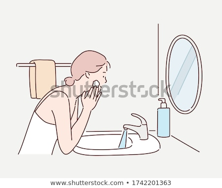 Foto stock: Girl Is Washing