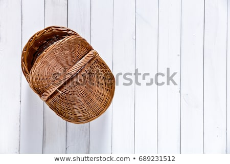 Сток-фото: Detail Of A Picnic Basket With Healthy Food