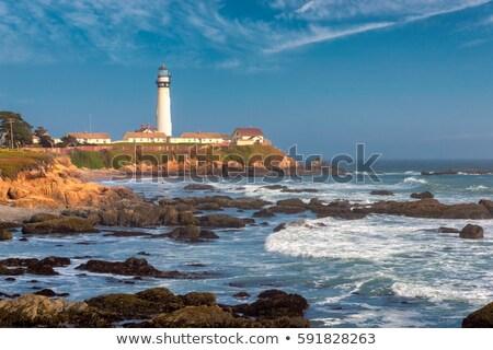 deniz · feneri · gün · batımı · plaj · ışık · turuncu - stok fotoğraf © juniart