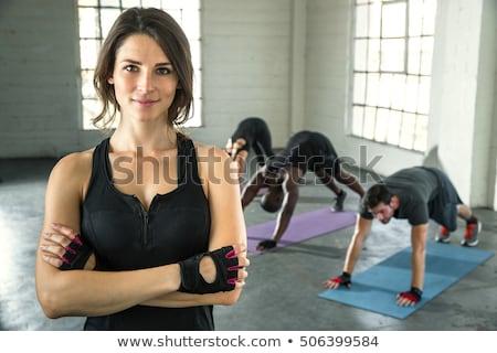 Photo stock: Pilates · gymnase · groupe · classe