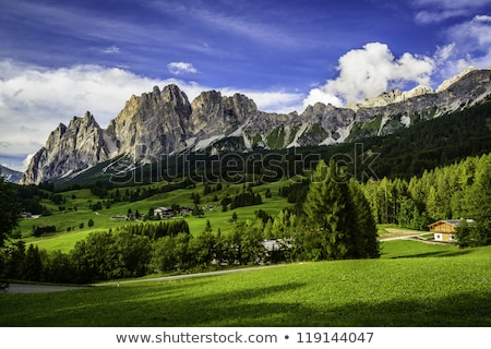 Village montagne montagnes Europe panorama ville Photo stock © manfredxy