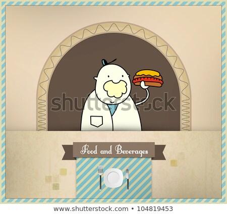 verkoper · vers · hot · dog · voedsel · dranken - stockfoto © involvedchannel