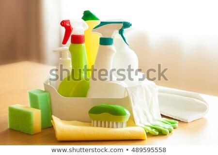 temizlik · ayarlamak · yalıtılmış · beyaz · ev · ev - stok fotoğraf © brunoweltmann