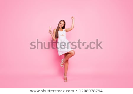 dancer holding her leg high Stock photo © feedough