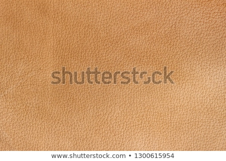 Сток-фото: Orange Leather Texture Closeup