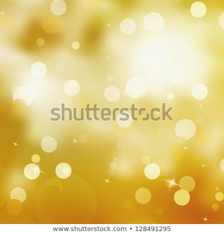 festive gold christmas with bokeh lights eps 8 stock photo © beholdereye