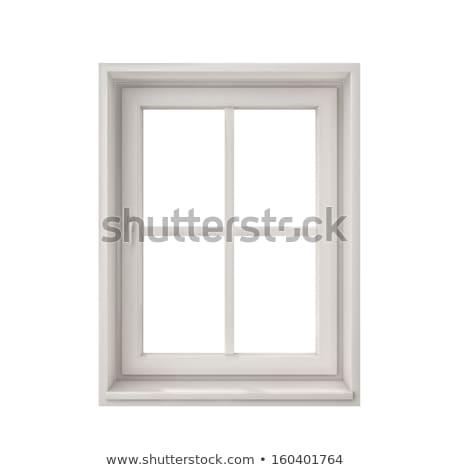 Old window frame isolated on white background. Stock photo © inxti
