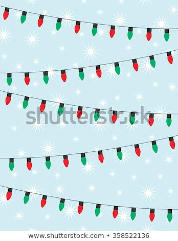 Christmas tree and light over blue background Stock photo © tilo