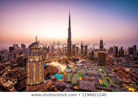 A skyline of Downtown Dubai with Burj Khalifa and Dubai Fountain Stock photo © SophieJames