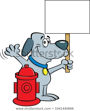 Funny Dog and Fire Hydrant Stock photo © pcanzo