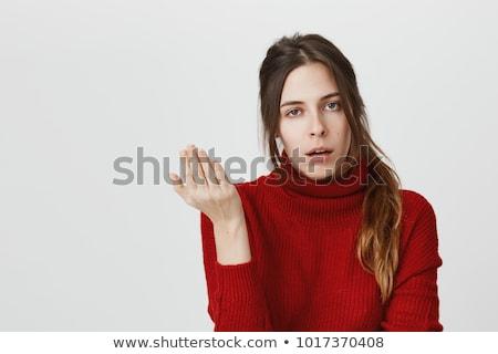 haren · mooie · vrouw · Rood · handen · hand - stockfoto © ilolab