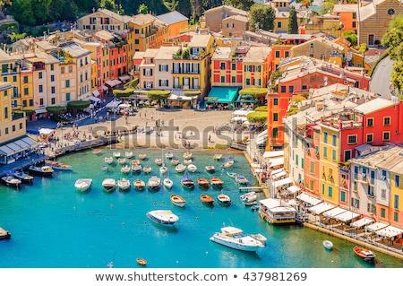 panorama · famoso · pequeño · pueblo · mediterráneo · mar · casa - foto stock © Antonio-S
