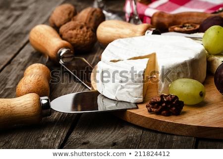 Camambert peynir bıçak beyaz gıda süt Stok fotoğraf © jirkaejc