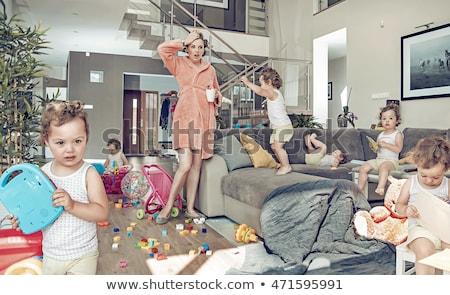 Co bałagan niechlujny wandalizm ściany tle Zdjęcia stock © Stocksnapper
