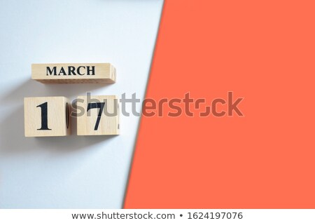 march 17 on 3d wooden cubes stock photo © marinini
