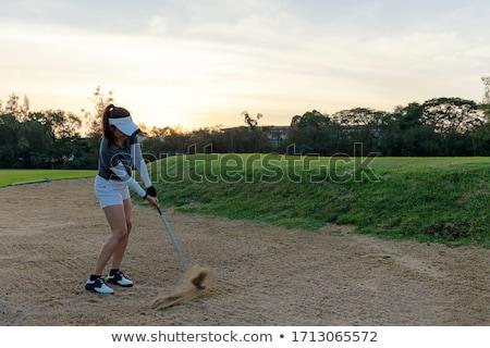 ゴルフ · 地球 · 惑星 · ゴルフボール - ストックフォト © michaklootwijk