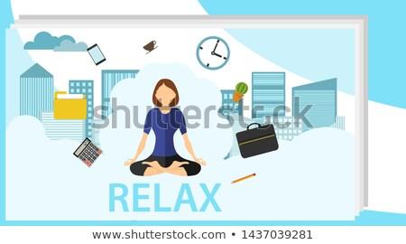 Sereno empresária sessão branco mulher mão Foto stock © wavebreak_media