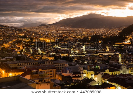 Quito, Ecuador at Night stock photo © jkraft5
