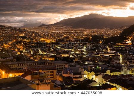 Ekvador · gece · görmek · tarihsel · bazilika - stok fotoğraf © jkraft5