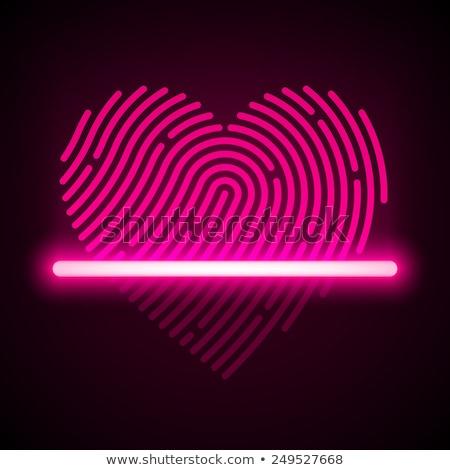 Finger prints in heart shape Stock photo © PiXXart