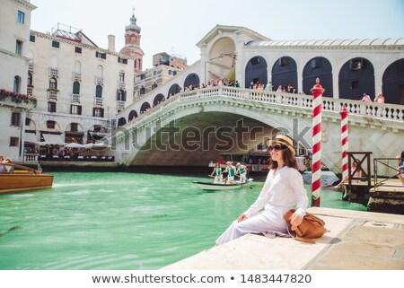 Gondole canal pont mer cheval Photo stock © SamoPauser