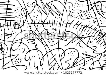 véletlenszerű · firka · vektor · illusztráció · toll · ceruza - stock fotó © hfng
