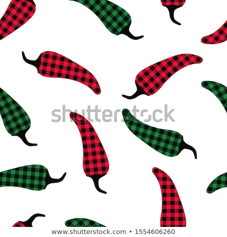 seamless chili pepper wallpaper vector illustration stock photo © hermione