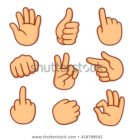 Cartoon Hand - Thumbs Down - Vector Illustration stock photo © indiwarm