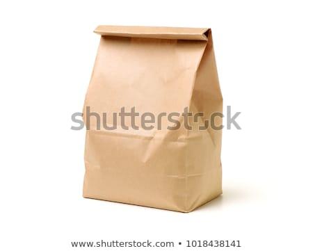 Marrón bolsa aislado blanco papel trabajo Foto stock © shutswis