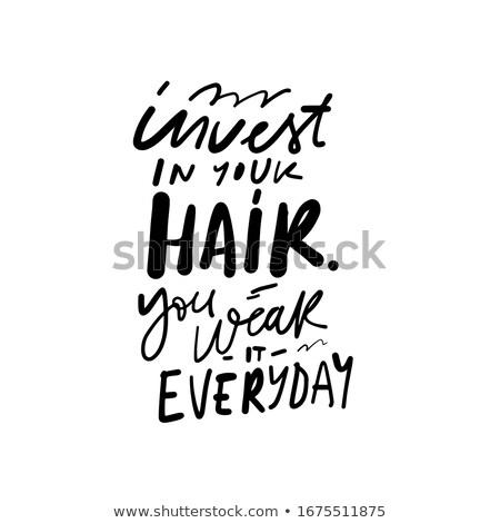 волос · щетка · белые · волосы · одевание · инструменты · пена - Сток-фото © timbrk