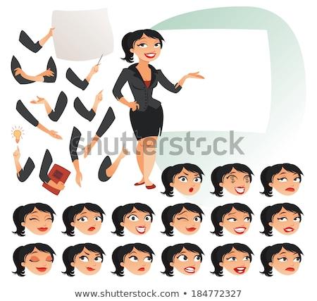 Lady Reporter - Cartoon Character - Vector Illustration Stock photo © indiwarm
