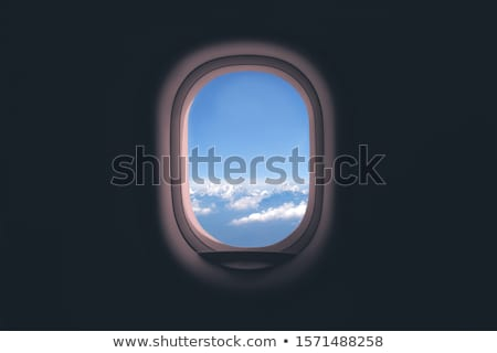 表示 · 飛行機 · ウィンドウ · 市 · 美しい · 海 - ストックフォト © h2o
