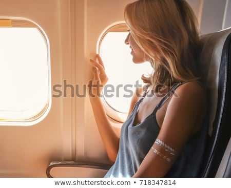 Woman airplane aviator Stock photo © stokkete