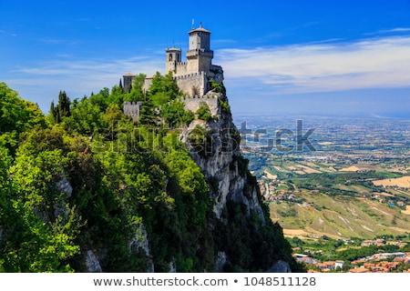 Saint-Marin · anciens · forteresse · république · arbres · bleu - photo stock © alessandro0770