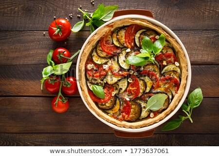 De oliva tomate tarta queso cena pie Foto stock © M-studio