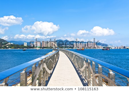Sunset along the coast in Hong Kong Stock photo © kawing921