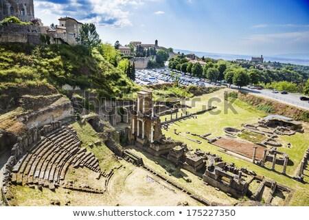 római · Toszkána · Olaszország · fal · színház · kő - stock fotó © anshar
