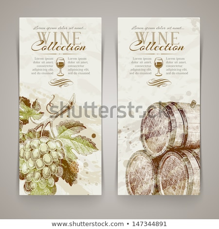 Wood frame with grape, vector illustration  Stock photo © carodi