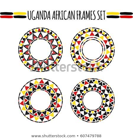 Pavillon Ouganda main couleur pays style Photo stock © claudiodivizia
