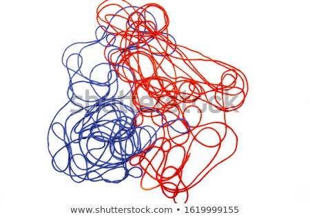 Piros gyapjú fonál közelkép szövet szín Stock fotó © inxti