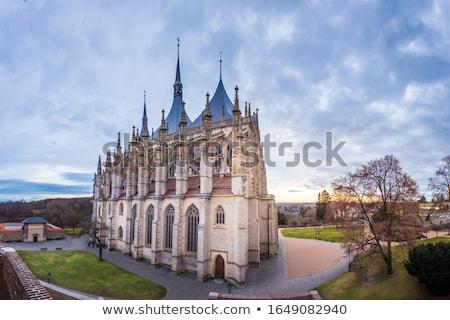 Szent templom részlet plafon Csehország belső Stock fotó © FER737NG