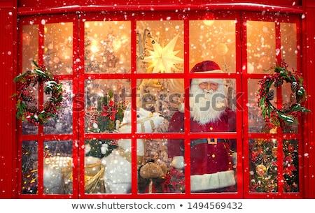 Eski moda pencere Londra Bina duvar cam Stok fotoğraf © trgowanlock