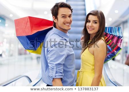 2 · 女性 · 友達 · 笑みを浮かべて · ショッピングバッグ · 肖像 - ストックフォト © rob_stark