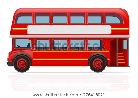 london double decker red bus vector illustration stock photo © leonido