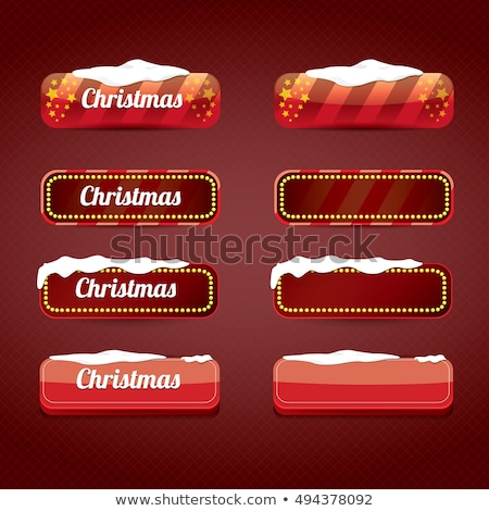 Foto stock: Navidad · invierno · vector · botones · establecer