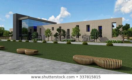 プール · 高級 · スイミングプール · 1泊 · 建物 · 青 - ストックフォト © vichie81