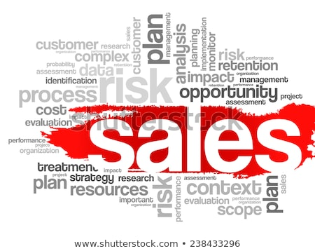 marketing sales word cloud stock photo © burakowski