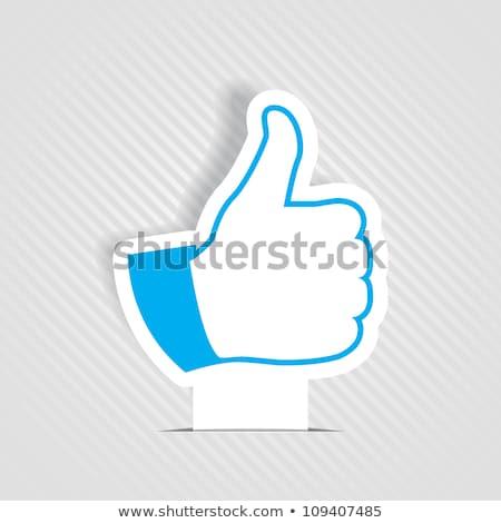 sosyal · medya · mavi · vektör · ikon · dizayn · web - stok fotoğraf © burakowski
