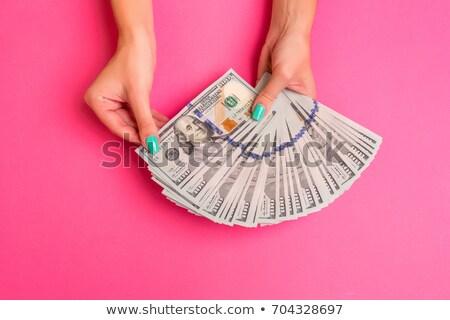 kadın · eller · dolar · yalıtılmış · beyaz · kâğıt - stok fotoğraf © oly5